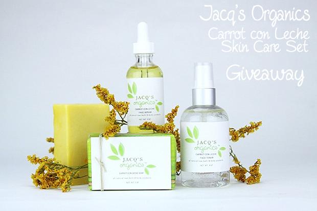Carrot Con Leche Skin Care Set Jacq's Organics Genuine Glow Giveaway