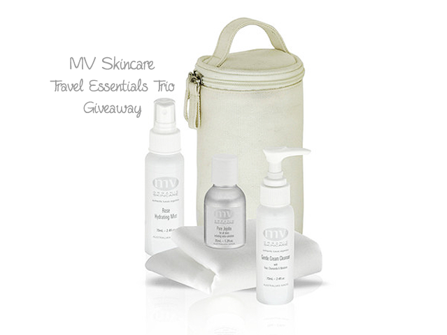 MV Skincare Travel Essential Trio Giveaway