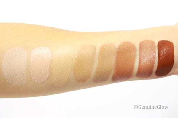 Gressa Serum Foundation Swatches