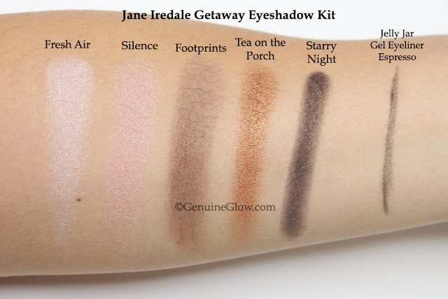 Jane iredale Getaway Eye Palette Swatches copy