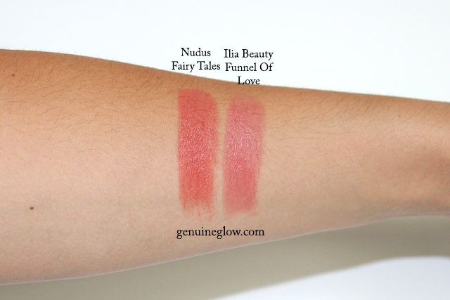 Nudus Fairy Tales Ilia Beauty Funnel Of Love Swatches Review