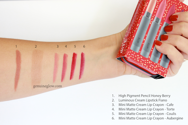 Bite Beauty Swatches