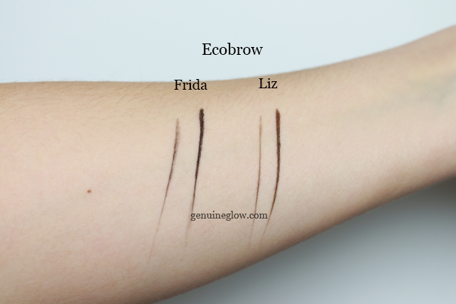 Ecobrow Review Frida Liz Swatches