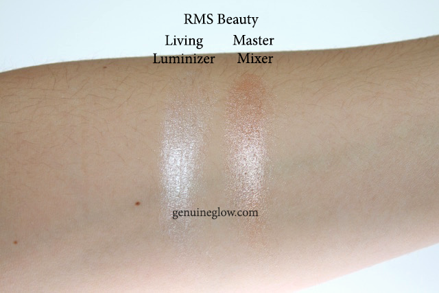 RMS Beauty Living Luminizer Master Mixer Review Swatches