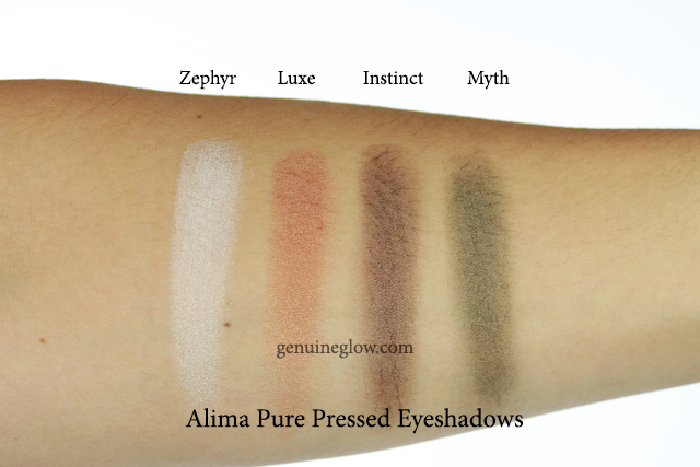 Alima Pure Pressed Eyeshadows Review Swatches