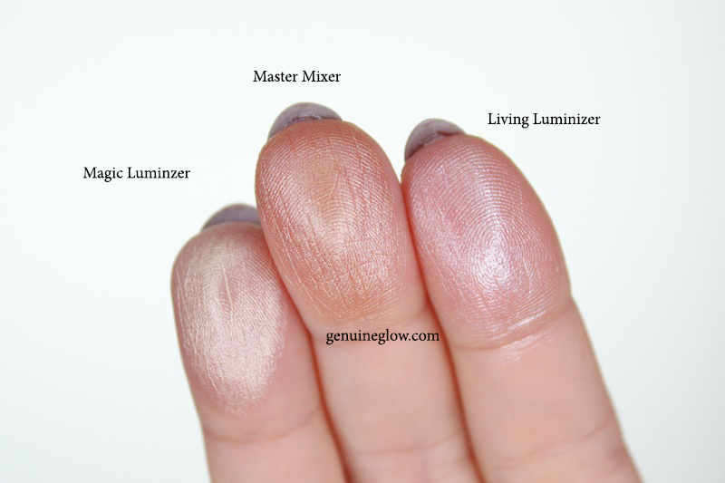 RMS Beauty Magic Luminizer Living Luminizer Master Mixer Swatches