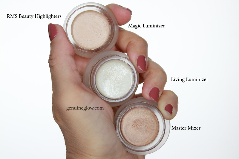 RMS Beauty Magic Luminizer Living Luminizer Master Mixer Review Swatches