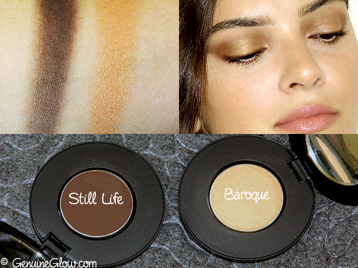 Afterglow Cosmetics Organic Infused Eco Eye Shadows Swatches Reviews Photos Still Life Baroque