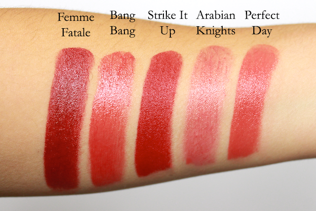Ilia Beauty Red Lipstick Swatches