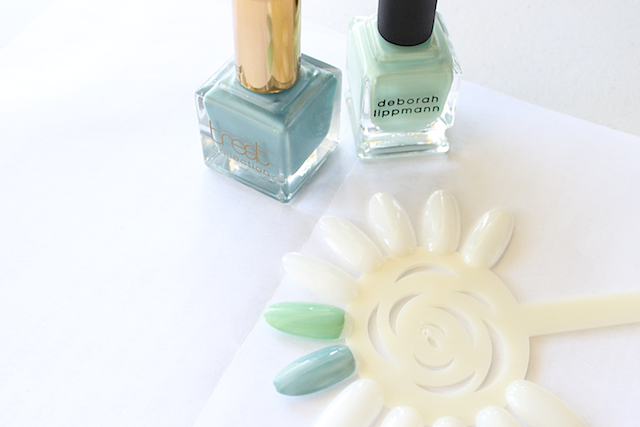 April Favorites Genuine Glow Deborah Lippman Flowers in Her Hair Treat Collection Nail Polish Something Blue