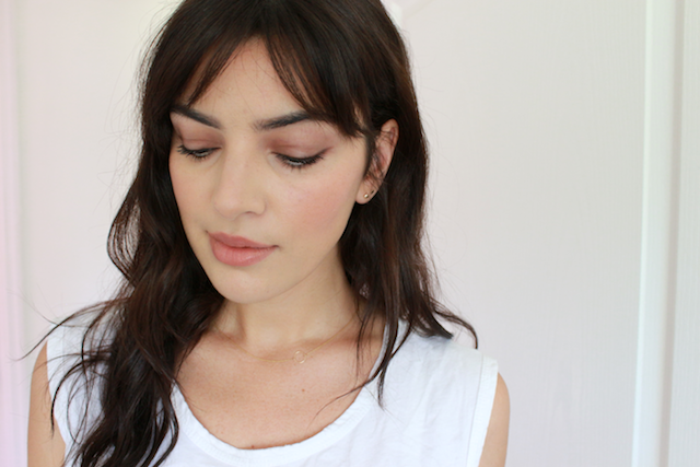 Kjaer Weis Transcend Eye Shadow Above and Beyond Cream Blush Captivate Lip Tint review Swatches